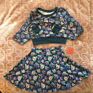 Mossimo Supply Co Matching Crop Top & Skirt Set